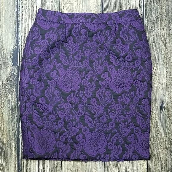 d66a95b36c9c Talbots Skirts   Purple Brocade Skirt   Poshmark